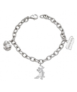 Coqui el Original ® Sterling Silver Charm Bracelet with 3 Charms - $203.00