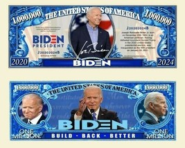 Pack of 100 - Joe Biden Presidency Collectible Million Novelty Dollar Bill - $19.75