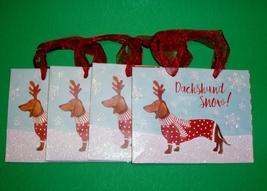 "Set of 4 Dachshund Through The Snow Christmas Holiday 6.25"" x 5"" x 3"" Gi... - $11.00"