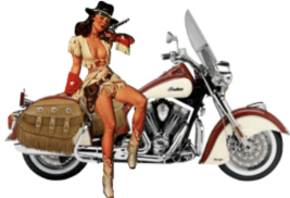 Made In United States Cowgirl and Indian Nose Art Decal 6''   - $19.79