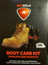 Sof Sole Boot Care Kit Waterproofer Cleaner Shoe Brush Scuff Eraser New ... - $7.70
