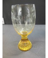 Lenox Tempo water glass yellow hand blown - $10.40