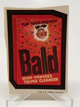 Trading Card Sticker 1970'S Wacky Packages Bald Toupee Cl EAN Ser Brown Back - $7.91