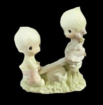 "Precious Moments ""Love Lifted Me"" 1977 Jonathan & David Figurine E-1375/A - $23.76"