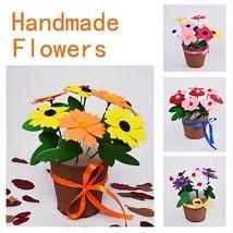 DIY EVA Artificial Flower Pot Children Kids Handmade Educational Learnin... - $1.56
