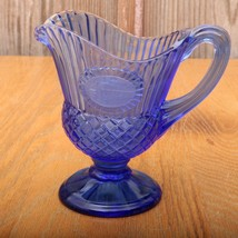 Vintage Blue Fostoria Avon George Washington Creamer  - $17.75