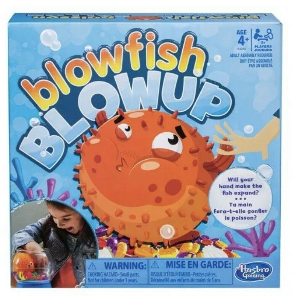 Hasbro Blowfish Blowup Family Game Be Aware of the Fish!  Ages 4+ New