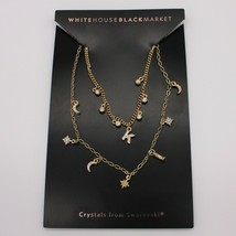 "White House Black Market WHBM Initial Charm Necklace ""K"" New on Card - $29.99"
