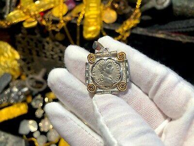 ROMAN EMPIRE DENARIUS CARACALLA (AS CAESAR) PENDANT JEWELRY NECKLACE PIRATE GOLD