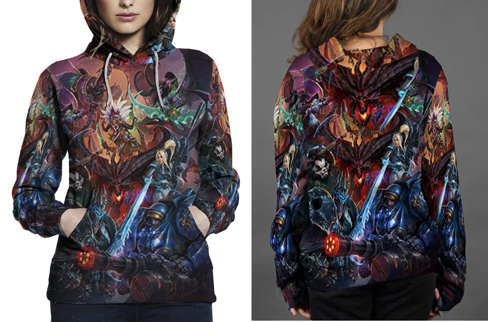 Primary image for Heroes Of The Storm Key Art Hoodie Women's