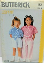 Butterick Sewing Pattern 4578 Girls Shirt Sash Shorts Pants Size 2 3 4 - $8.09