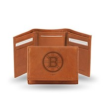 Rico Industries NHL Boston Bruins Embossed Leather Trifold Wallet, Tan - $25.42