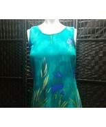 Vintage Sherri Martin Dress Sleeveless Shift Blue Iris Size 6P New York ... - $28.91