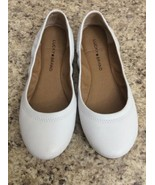 Lucky Brand Emmie White Leather Ballet Flats / Shoes Women's Size 7M - $19.79