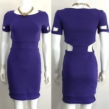 ASOS Purple Cutout Bodycon Wiggle Lined Party Cocktail Dress •US 6, UK 1... - $28.22