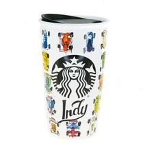 Starbucks Indy Indianapolis Race Car Ceramic Traveler Tumbler Coffee Mug... - $97.02