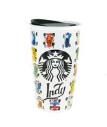 Starbucks Indy Indianapolis Race Car Ceramic Traveler Tumbler Coffee Mug 12oz - $97.02