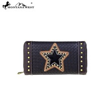 4 Clrs Trinity Ranch Western Tooled Leather Montana West Wallet TR46 - $36.95