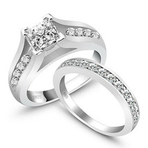 Fashion White Diamonds 925 Sterling Silver Wedding Eternity Band Bridal ... - $151.90