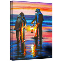 ArtWall Night Clammers by Susi Franco Painting Print on Wrapped Canvas  24 x 32 - $84.17