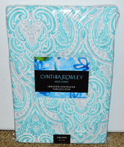 """New Cynthia Rowley Indoor Outdoor Tablecloth 60"""" x 84"""" Oblong Paisley Blue - $49.49"""