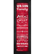 """Personalized Arkansas State Red Wolves """"Family Cheer"""" 24 x 8 Framed Print - $39.95"""