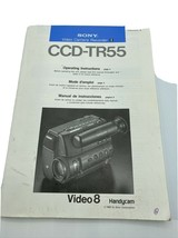 Vintage Original 1989 Sony Owner's Manual for the CCD-TR55 Video Camera Recorder - $19.75