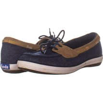 Keds Glimmer Lace Up Boat Shoes 265, Navy, 6.5 US / 37 EU - $24.47
