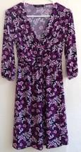 Style & Co. Petite Women's Dress P Purple Black White Polyester Spandex ... - $18.80