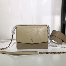 Tory Burch ROBINSON CONVERTIBLE SHOULDER BAG COLOR BLOCK BEIGE Authentic - $295.00