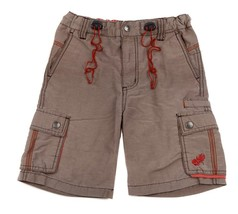 PLUGG SOUL SURFING Beach Shorts Tan Brown Red Cargo Pockets Adjustable W... - $7.91