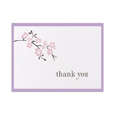 Cherry Blossom Wedding Thank You Cards Thank You Notes Pack of 50