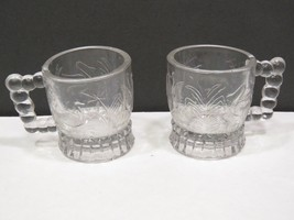 2 EAPG Bryce Brothers Swan Ducks Childs Mini Mug Cup Clear  - $29.70