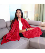 MagicWrap - Cuddle Fleece Burgundy Wrap Poncho Cape Blanket for Love and Support - $37.95