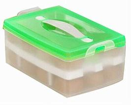 Practical Plastic Egg Storage Boxes Portable Eggs Holder, 24 Pockets, Green - £23.78 GBP