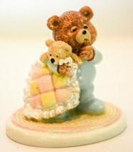 Sweet Dreams  Bear with Blanket  Russ Berrie & Co Item # 14070  Miniature Figure - $11.87