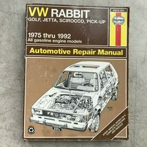 VW Rabbit, Jetta, Scirocco,  Haynes Repair Manual, Service Guide 1975-19... - $10.40