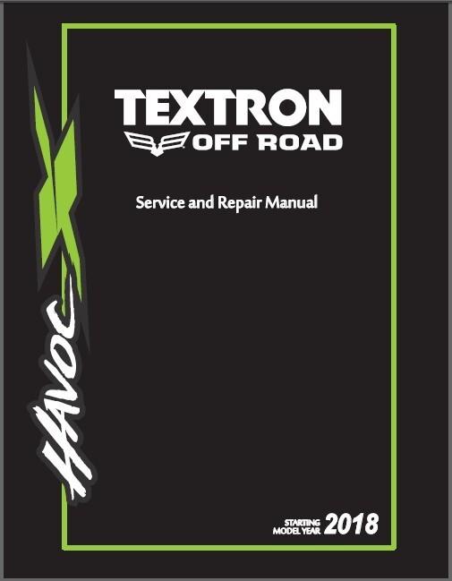 2018 Textron Off Road (Arctic Cat) Havoc X ATV Service Manual CD