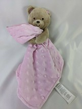 Carters Child of Mine Bear Plush Pink Lovey Security Blanket Stuffed Ani... - $12.95