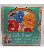 The Pioneer Woman Flea Market Coasters Set 4 Floral Round New In Box  - $19.79