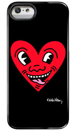 Case Scenario Keith Haring Red Heart IMD Cover Iphone 5/5s Hard Snap case NWT