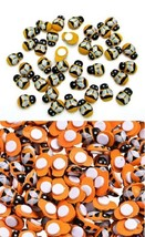 """Small ORANGE, YELLOW or MIXED BEE Stick-on Wood Pieces 1/2"""" Scrapbook Craft - $1.97+"""
