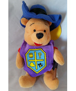 Disney Store Winnie the Pooh Musketeer Pooh Stuffed Plush Bean Bag Toy 8... - $4.99