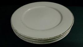 "Set of 3 Vintage International Silver Company DINNER PLATES, 10-3/4"", Gold Rim - $10.00"