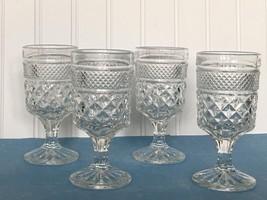 "Vintage Lot Of 4 Wexford Anchor Hocking 5 3/8"" Claret Wine Glasses - $16.78"
