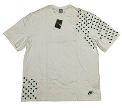 Vintage Nike Men's White T-shirt with Green Dots 3XL  - $35.54