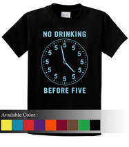 No Drinking Before Five Funny Men's T-Shirt Size S-3xl - $19.00