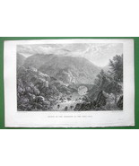 GERMANY Entrance to Oker Thal Valley - CPT BATTY Antique Print Engraving - $9.57