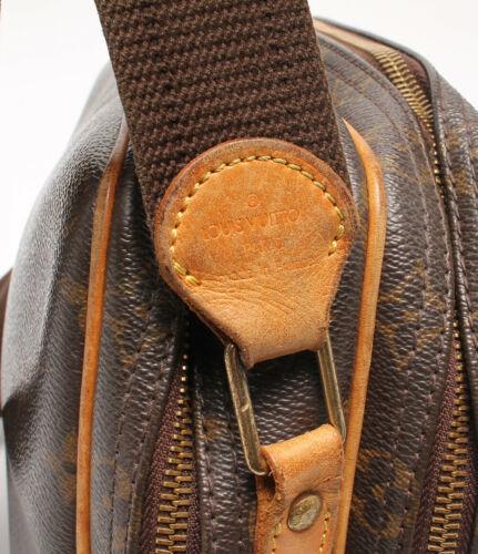 Auth Louis Vuitton Monogram Shoulder Bag Brown Leather PVC Logo LVB0540
