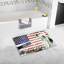 InterestPrint Vintage New York City Collage with Statue Of Liberty and US Flag D - $26.72